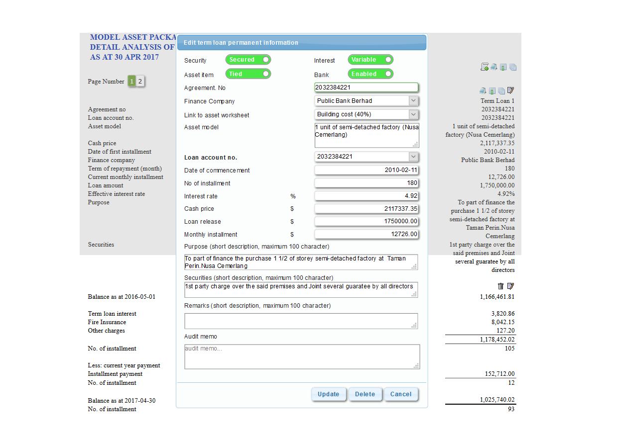 asset and loan - auditsme
